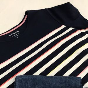croft & barrow Tops - Croft & Barrow-Classic tee, Navy/stripes size L